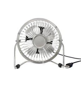 Kikkerland ventilator bureau - USB (zilver)