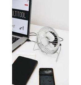 ventilator bureau - USB (zilver)