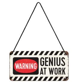 Nostalgic Art hanging sign - genius at work (4)