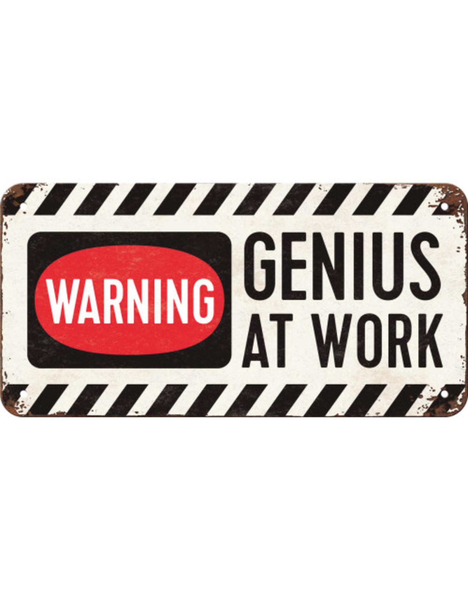 hanging sign - genius at work