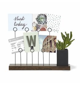 Gala photo display & pen holder (brown/black)