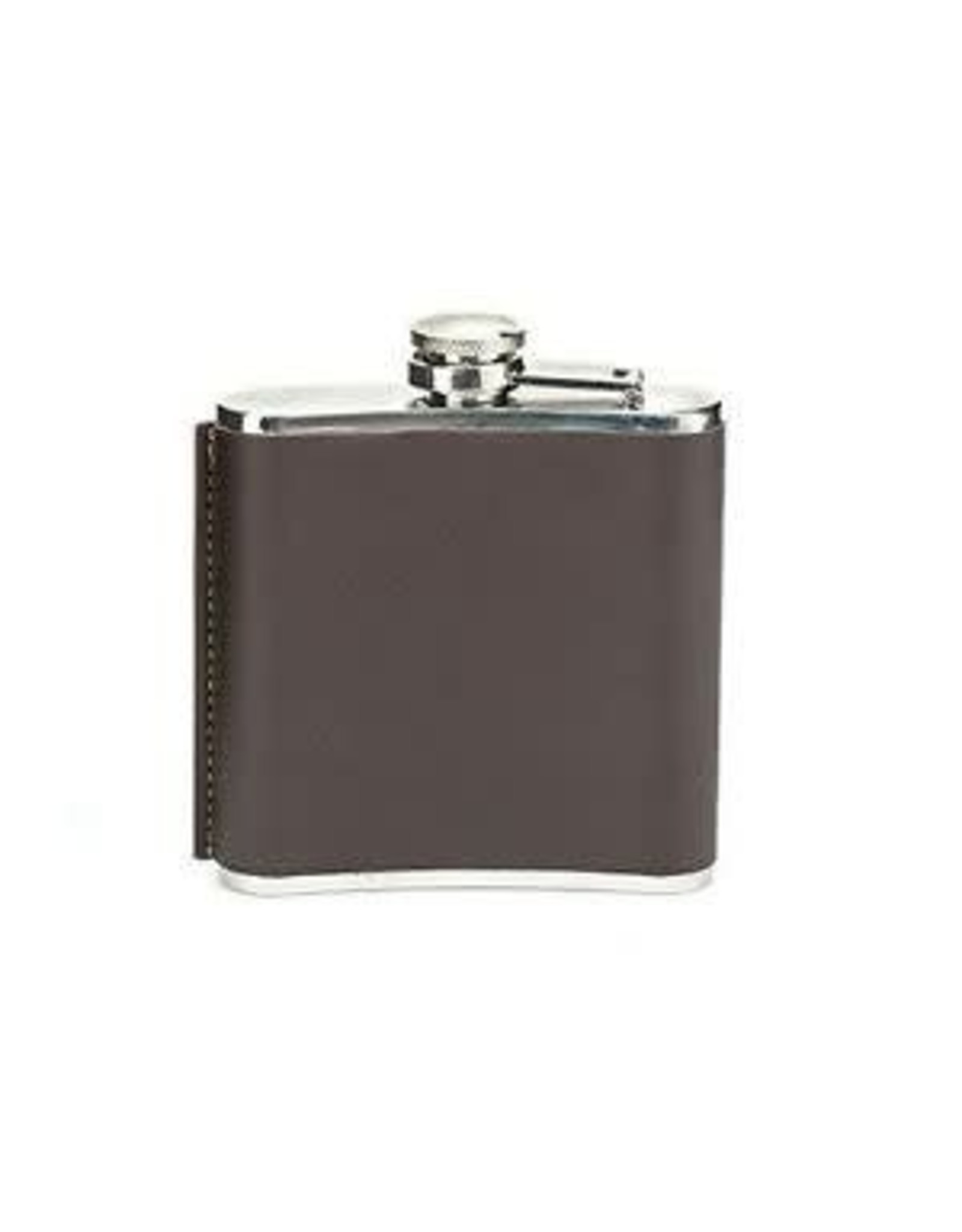 hip flask with leather cover