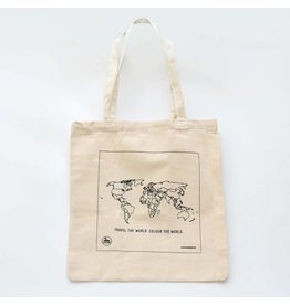 Trouvaille colour in tote bag - world