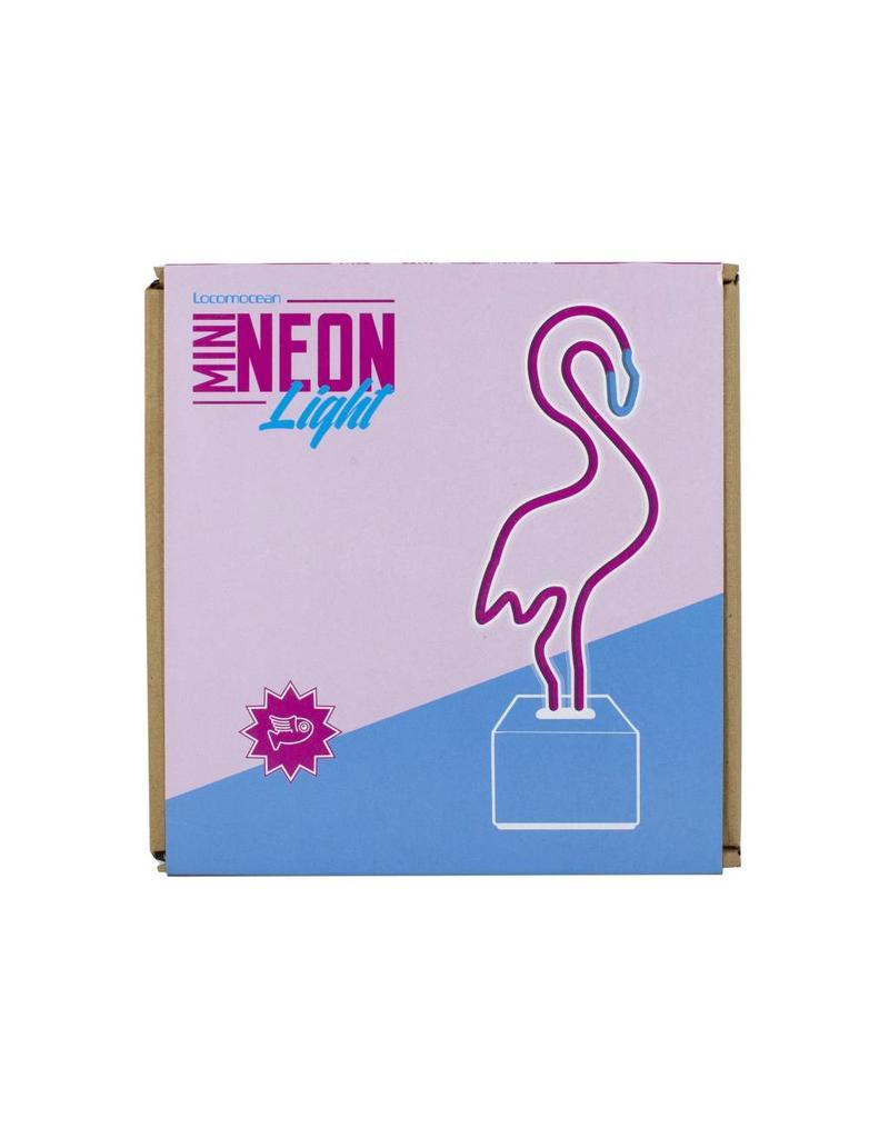 Locomocean mini neonlicht - flamingo