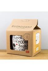 Legami mug - I love you to the moon and back