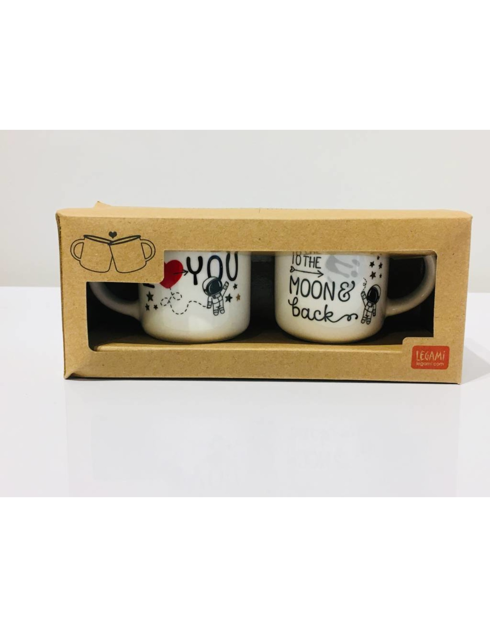 espresso mugs - to the moon and back