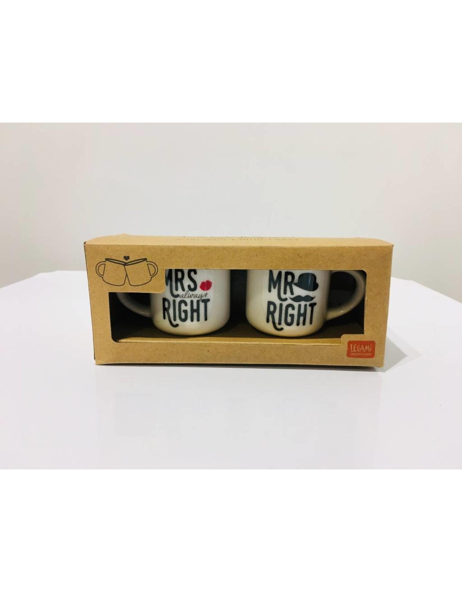 espresso mugs - Mrs right / Mr right