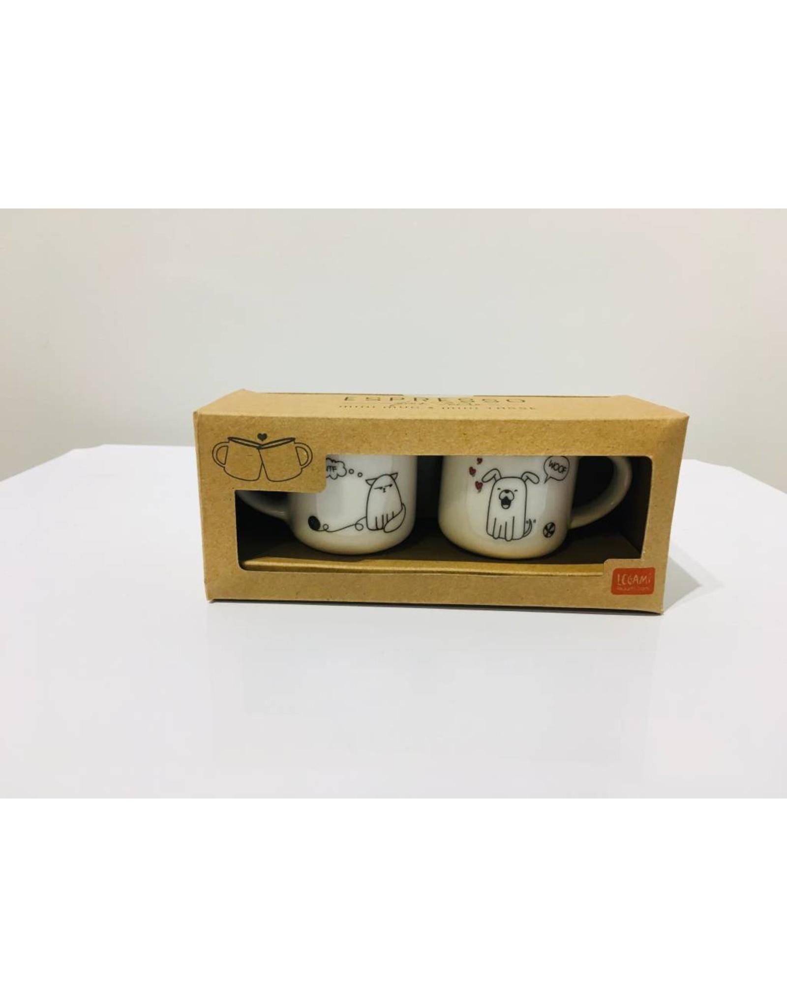 espresso mugs - dog & cat