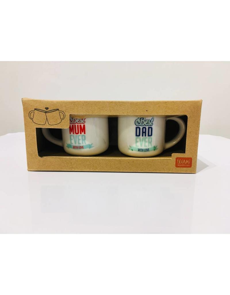 Legami espresso mugs - best mum / best dad
