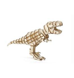 Kikkerland 3D wooden puzzle - T-rex (12)