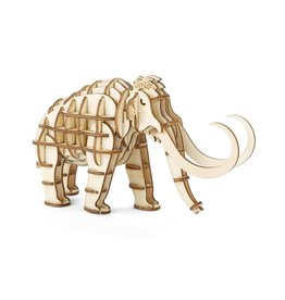 Kikkerland 3D wooden puzzle - mammoth (12)