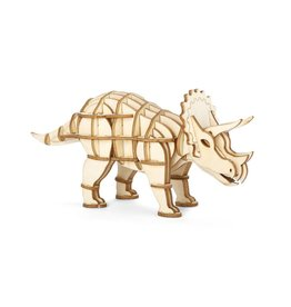 Kikkerland 3D wooden puzzle - triceratops (12)