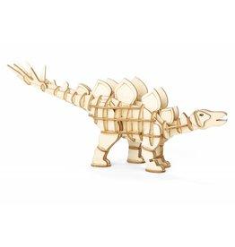 Kikkerland 3D wooden puzzle - stegosaurus