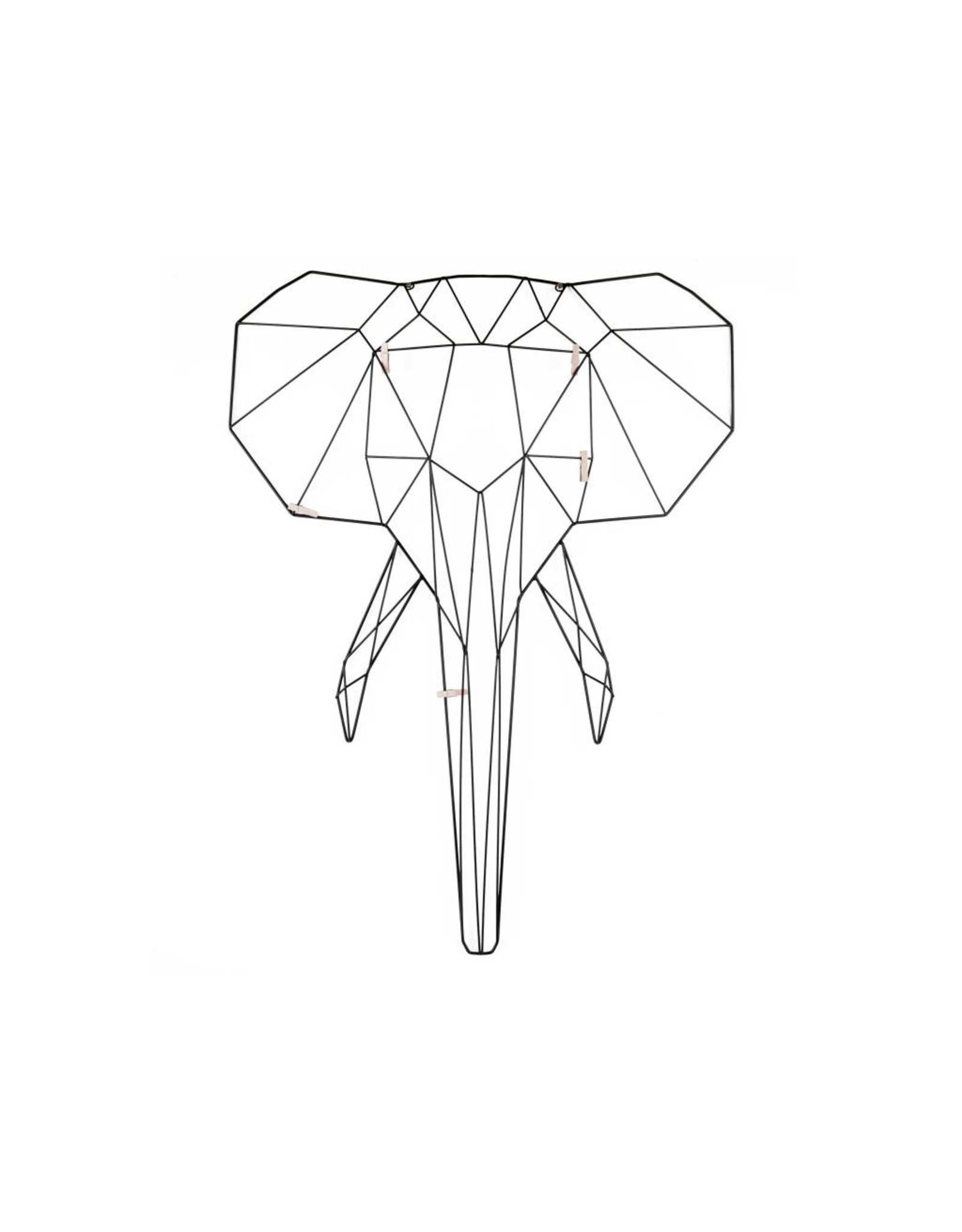 black metal memo rack in the shape of an elephant