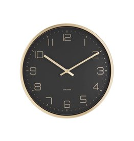 Karlsson wall clock - elegance (black)