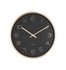 wandklok - elegance (zwart)