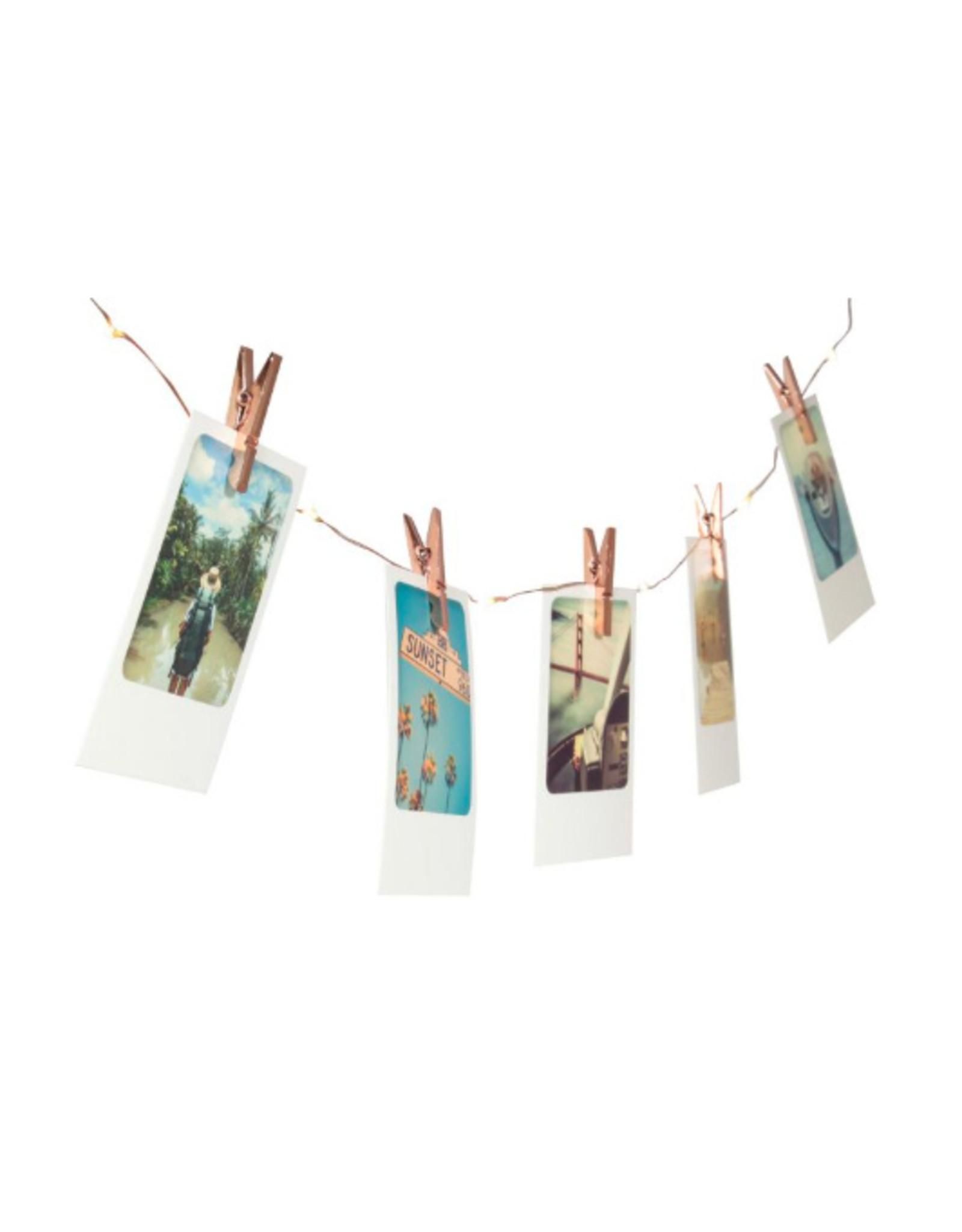light string - photo clips (copper)