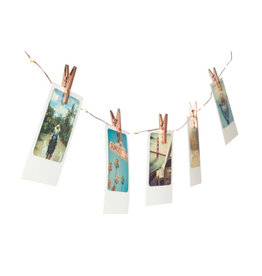 Neoly light string - photo clips (copper)