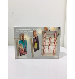 light string - photo clips (copper)