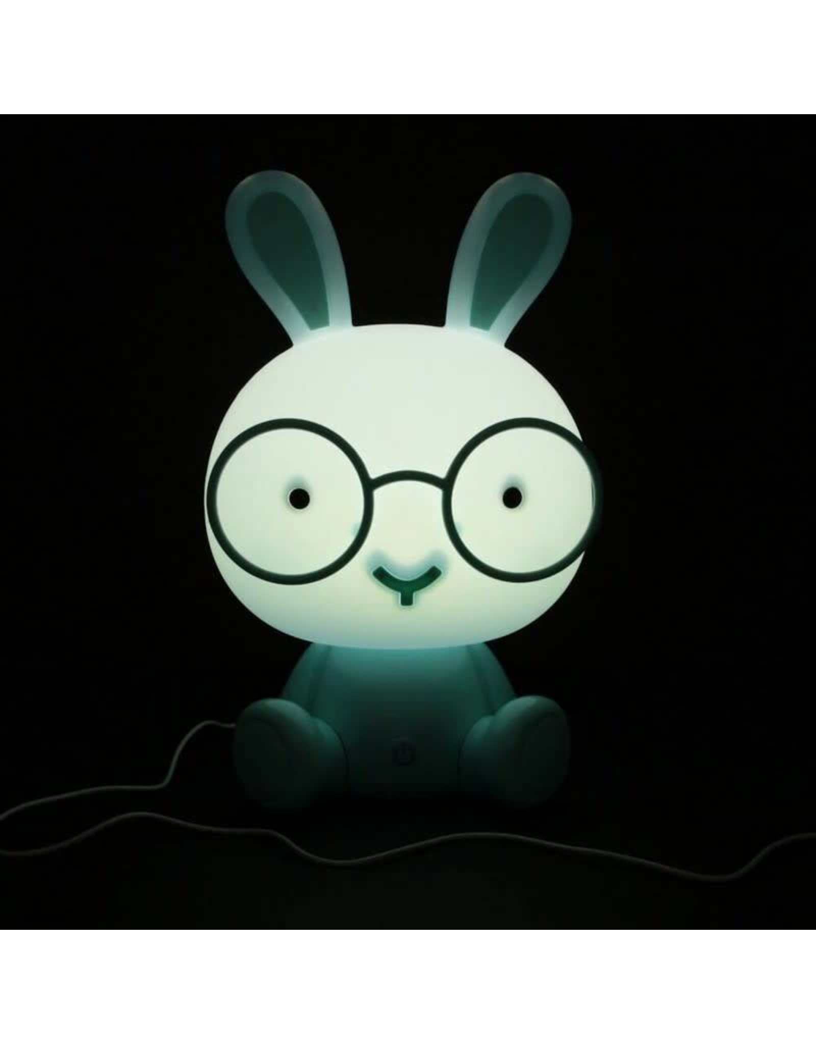 night light in the shape of a rabbit (blue)