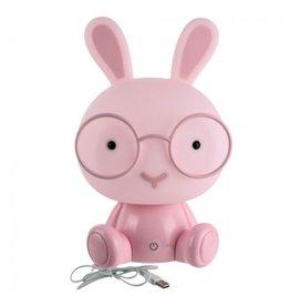 nachtlampje - konijn (roze)