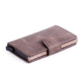 Figuretta kaart beschermer - kunstleer (donker bruin)