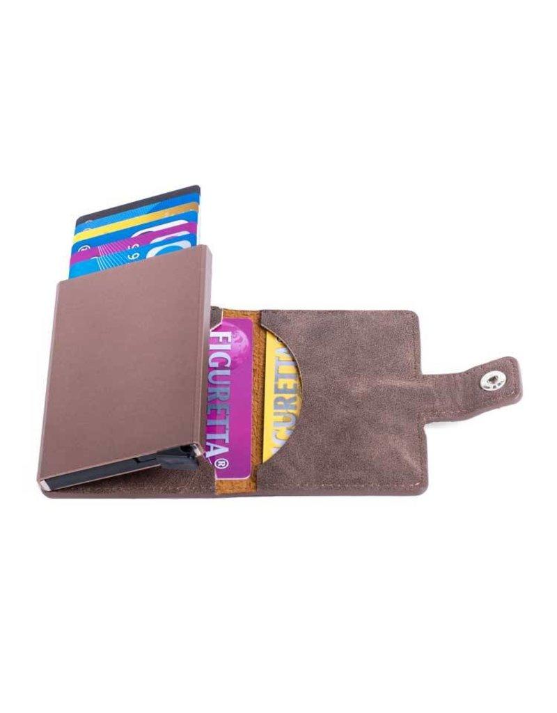 Figuretta card protector - leatherette (dark brown)