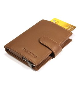 Figuretta card protector - luxe leather (cognac)