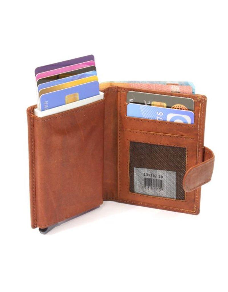 Figuretta card protector - luxe leather (cognac)