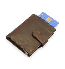 Figuretta kaart beschermer - luxe leer (donker bruin)