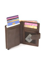 Figuretta card protector - luxe leather (dark brown)