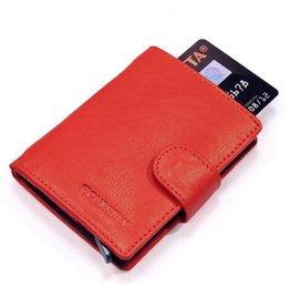Figuretta kaart beschermer - luxe leer (rood)