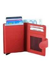 Figuretta card protector - luxe leather (red)