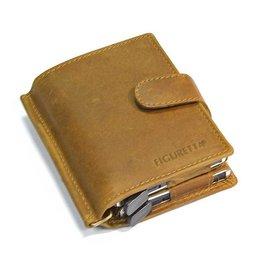 Figuretta kaart beschermer - luxe leer dubbel (khaki)