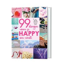 boek - 99 dingen waar je happy van wordt