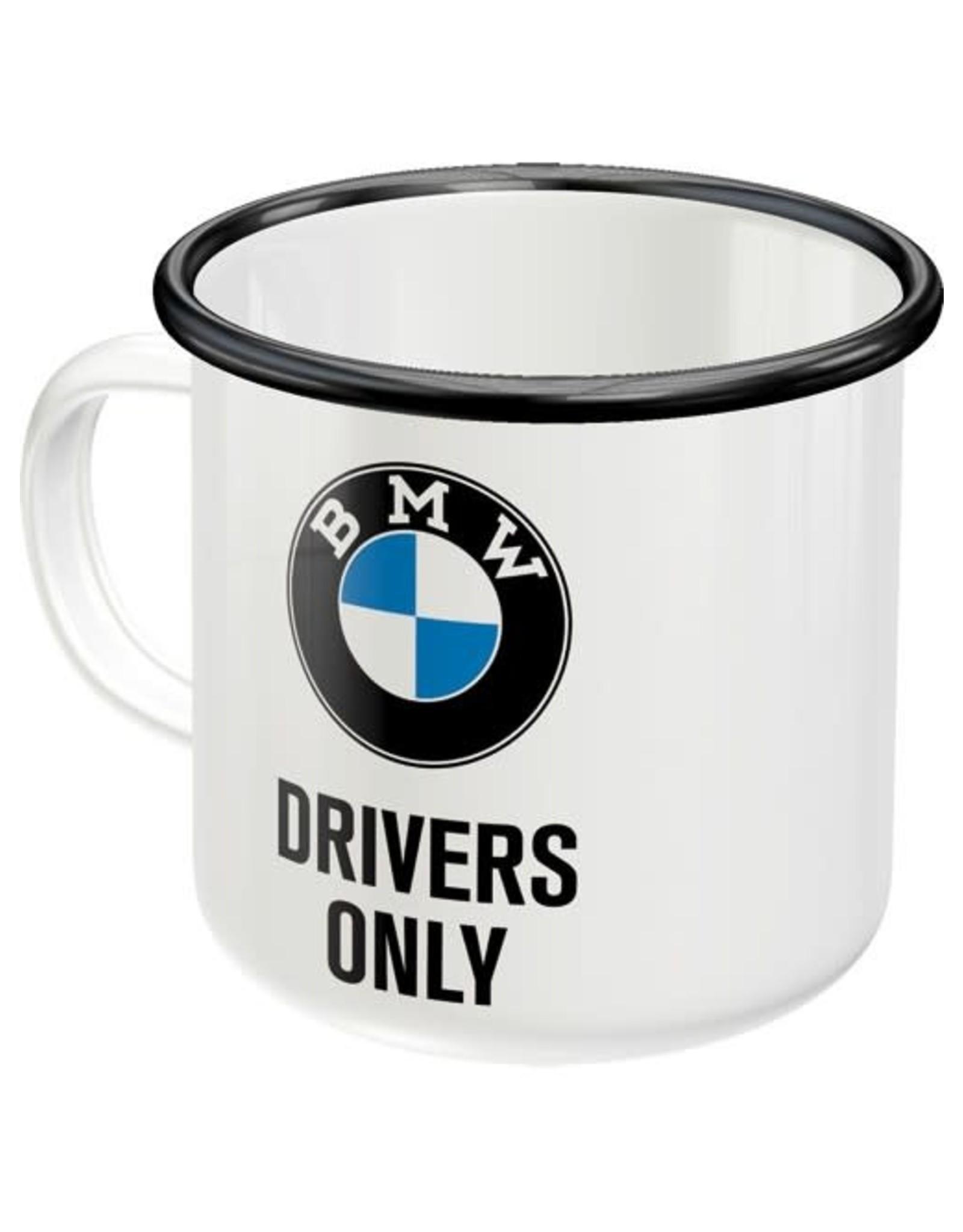 enamel mug - BMW drivers only