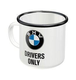 Nostalgic Art enamel mok - BMW drivers only