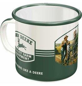 Nostalgic Art enamel mug - john deere