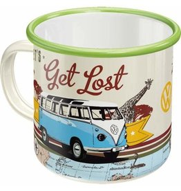 enamel mug - let's get lost