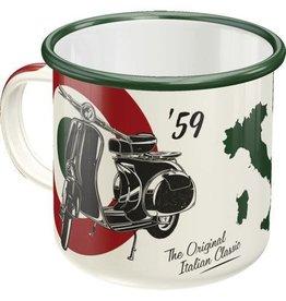 Nostalgic Art enamel mug - vespa