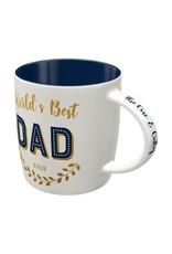 "ceramic mug with print "" nr 1 dad"""