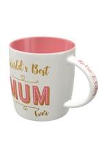 """ceramic mug with print """"nr 1 mum"""""""