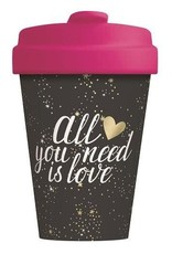 Chic Mic travel mug - all you need is love (gold)