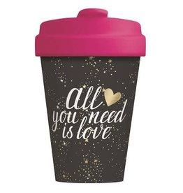 Chic Mic travel mug - all you need is love (1)