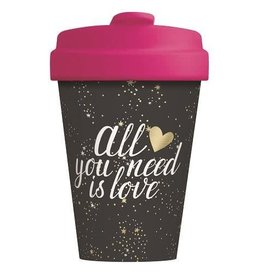 Chic Mic travel mug - all you need is love