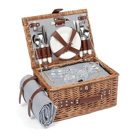 Le Studio picknick mand - streepjes (4 personen)