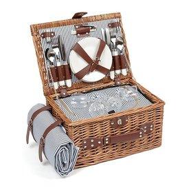 pic nic basket - stripes (4 persons)