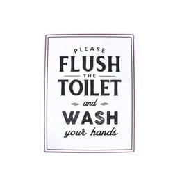 La Finesse sign - flush the toilet