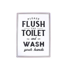 sign - flush the toilet