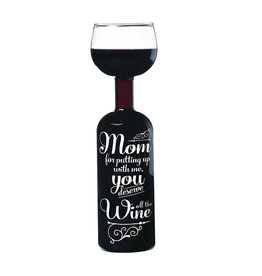 Big Mouth wijnfles / glas - wine for mom